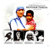 Dominique 2010 ( Feuille Complète ) Mère Téresa