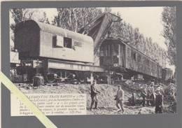 Déraillement Train Paris Nantes Le Croisic Pres Savonnieres - La Grande Grue Du Dépot De Tours Ramene De Nouvelles Roues - France