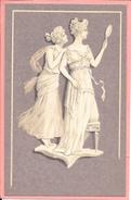 Femmes Art Nouveau Wedgewood Wedgwood Meissner & Buch Camaieu Fond Violet - Women