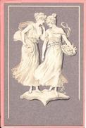 Femmes Art Nouveau Wedgewood Wedgwood Meissner & Buch Camaieu Fond Violet M S M - Women