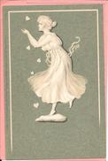 Femme Art Nouveau Wedgewood Wedgwood Figuren Meissner & Buch Camaieu Fond Vert M S M - Women