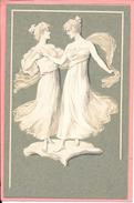 Femmes Art Nouveau Wedgewood Wedgwood Figuren Meissner & Buch Camaieu Fond Vert M S M - Women