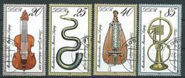 DDR  1979  Mi 2445 - 2448  50 Jahre Musikinstrumentenmuseum - [6] Democratic Republic