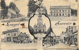 Souvenir De Longué (Longué-Jumelles, Maine Et Loire) - Multivues: Gare, Marché... - Souvenir De...