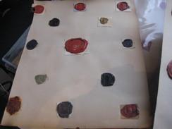 Zegels Van Was - Wax Seals - Lakzegels Collection, 2cm à 4cm, Before 1900 - Sceaux De Cire - Adel Familiekunde - Manuscripten