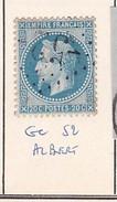 SOMME - S/29 - 20c Bleu Foncé - Napoleon III Lauré- Oblit   GC  52   (   Albert ) - Marcophilie (Timbres Détachés)
