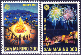 San Marino - Europa (MiNr: 1225/6) 1981 - Gest Used Obl - Europa-CEPT