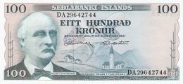 ISLANDE   100 Kronur   L. 1961   P. 44a   UNC - Iceland