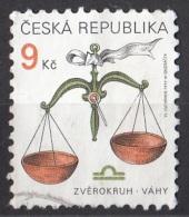 3065 Ceca 1999 Segni Zodiaco Zodiac Bilancia Viaggiato Used Republica Ceska - Astrologia