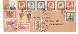 TP Palmiers-Masques S/L.c.Elisabethville C.19/6/1948 V.Johannesburg South Africa PR4209 - Congo Belge