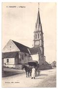 CPA Magny 57 Moselle L' Eglise Personnage Devant Calèche Cheval éditeur Pothain à Avallon N°6 - Francia