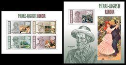 NIGER 2013 - P-A Renoir - YT 1893-6 + BF180; CV = 31 € - Kunst
