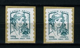 FRANCE 2013 / MARIANNE LETTRE VERTE 100G  ADH  Obl. PAIRE - France