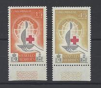 NOUVELLES-HEBRIDES . YT 199/200 Neuf ** Centenaire De La Croix-Rouge Internationale 1963 - Leggenda Francese