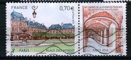 FRANCE 2016 /  YT 5055  PLACE DES VOSGES  OBL. - France
