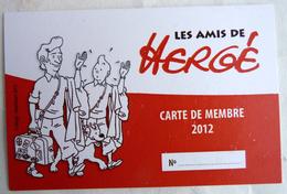 CARTE LES AMIS DE HERGE 2012 - TINTIN - Livres, BD, Revues