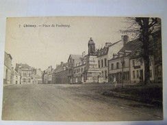 Cp1200 E4    CHIMAY Place Du Bourg 1921 Meubles Lagnaux - Chimay