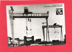 125 Jahre AG WESER ( BREMEN  1968 ) 2 Scan - Bremerhaven