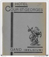 Livret HOTEL COUR ST GEORGES à GAND ,Belgique - Dépliants Touristiques