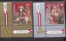 CEPT Frieden Und Freiheit Lettland 414 - 415 ** Postfrisch, MNH, Neuf - 1995