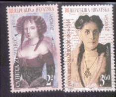 CEPT Berühmte Frauen / Famous Women Kroatien 375 - 376 ** Postfrisch, MNH, Neuf - Europa-CEPT