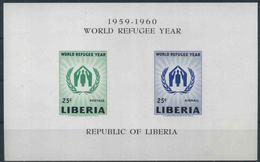 1960 Liberia, Anno Del Rifugiato Foglietto, Serie Completa Nuova (**) - Liberia