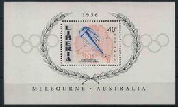 1956 Liberia, Olimpiadi Di Melbourne Foglietto, Serie Completa Nuova (**) - Liberia