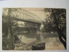 Cp1200 E4    ORTHEZ Passerelle De La Papeterie  Barque 1918 - Orthez