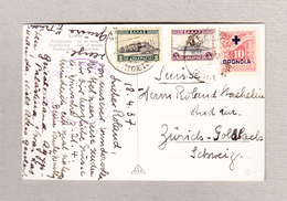 Griechenland Corfou 18.4.1937 Ansichtskarte Nach Zürich - Lettres & Documents
