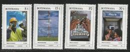 1990 Botswana Telephones Telecom Complete Set Of 4 MNH - Botswana (1966-...)