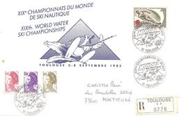 1985 Championnats Du Monde De Ski Nautique Lettre Recommandée Comité D'Organisation