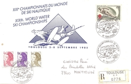 1985 Championnats Du Monde De Ski Nautique Lettre Recommandée Comité D'Organisation - Water-skiing
