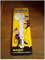 Plaque émaillée  émaillerie Alsacienne Thermometre  30 X 96  Cm  MAZDA La Lampe éclairage Radio - Brands