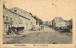 -dpts Div.-ref- MM494- Moselle - Chateau Salins - Rue De Strabourg - Cafe Leon Lallemand - Cafes - - Chateau Salins
