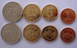 ZIMBABWE 2014 SERIE 4 MONETE 25-10-5-1 BOND COIN FDC UNC - Zimbabwe