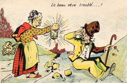 C.P HUMOUR  ILLUSTRATEUR BOURET LE BEAU RÊVE TROUBLE - Autres