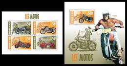 NIGER 2013 - Motorcycles, Actors - YT 1929-32 + BF189; CV = 31 € - Acteurs