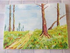 1 Peinture Sur Toile 46 X 33  Cm - Edeven - Paysage - Huiles