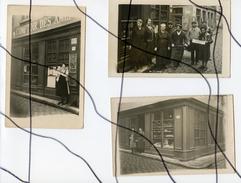 3 CARTES PHOTOS Identifiees. CPA . LYON 5eme. Devanture Du Café Comptoir Des Amis..A. FERRIERES. Porte-pot. - Photographie