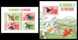 NIGER 2013 - Orchids & Butterflies - YT 1933-6 + BF190; CV = 31 € - Vlinders