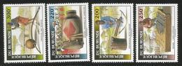 1993 Burundi Musical Instruments  Complete Set Of 4 MNH - Burundi
