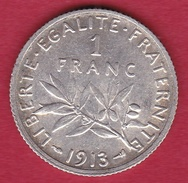 France 1 Franc Semeuse Argent 1913 - FDC - France