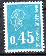 Marianne De Bequet -  0,45F Bleu  N° 1663** - 1971-76 Marianne (Béquet)