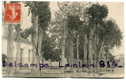 - Environs D´Alger- AIN-TAYA - Ecole Et Place De L'Eglise, Peu Courante, écrite, 1911, BE, Scans. - Algerije