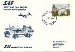 Great Britain First SAS Flight DC-9 London Tirstrup/Aarhus 1-4-1979 - Unclassified