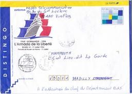 LETTRE DISTINGO LA POSTE ARMADA DE LA LIBERTE ROUEN 1994 VIROFLAY YVELINES - Marcophilie (Lettres)
