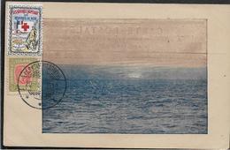 Erinnophilie LES NAVIRES HOPITAUX DES OEUVRES DE LA MER Vignette CROIX ROUGE Sur Cpa D'Islande   ..  .G - Commemorative Labels