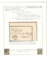 Reçu De La Poste D'un Montant De 8.70 Frs Pour Abonnement C.Vielsalm 21/6/1865 + 2 TP30 PR4211 - Documents Of Postal Services