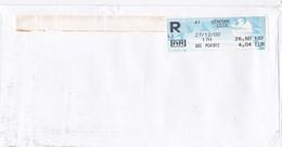 LETTRE RECOMMANDEE AR VENDOME CDIS  EN 2000 - Marcophilie (Lettres)