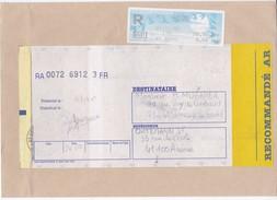 LETTRE RECOMMANDEE AR TIMBRE DISTRIBUTEUR VENDOME 26F50 EN 2000 - Poststempel (Briefe)